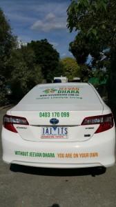 Jeevan Dhara Hybrid Car on Australia Yatra - Back