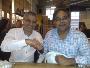 "Sunil Kumar with Pooran Desai - Author of book ""One Planet Living"""